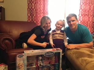 Scott & Christie with Godchild, Addy