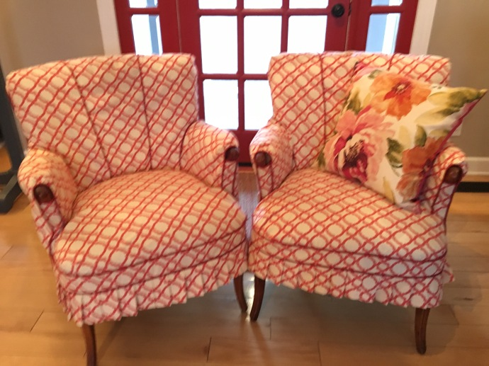 slipcovered chairs