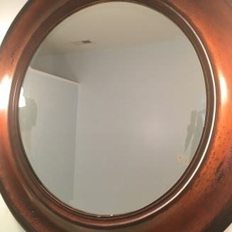 before of round mirror