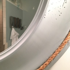 After round mirror