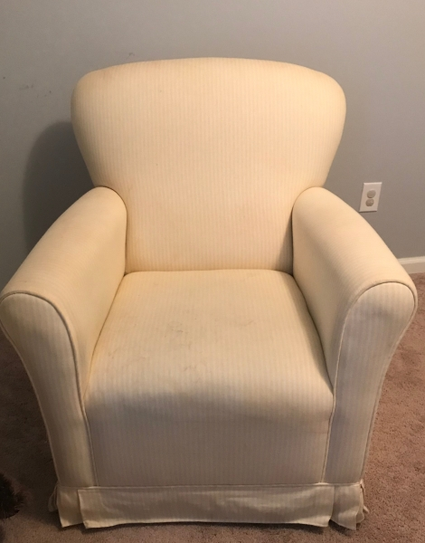 Before: yellow striped cotton