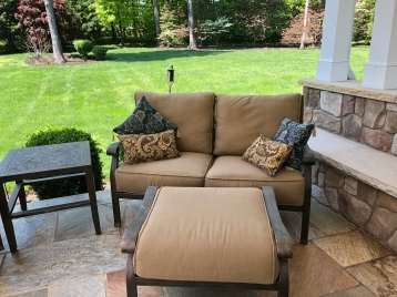 Before loveseat and ottoman